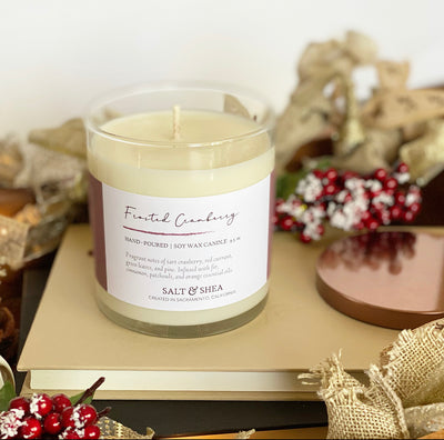 Frosted Cranberry Soy Wax Candle