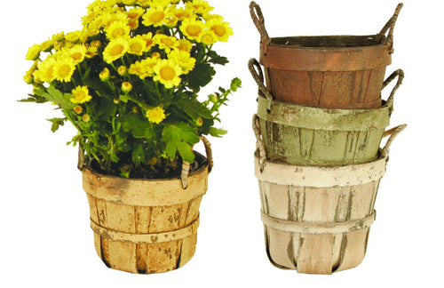 Distressed Garden Planter Basket