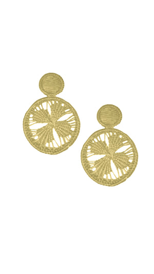 Straw Maxi-Earrings Flower