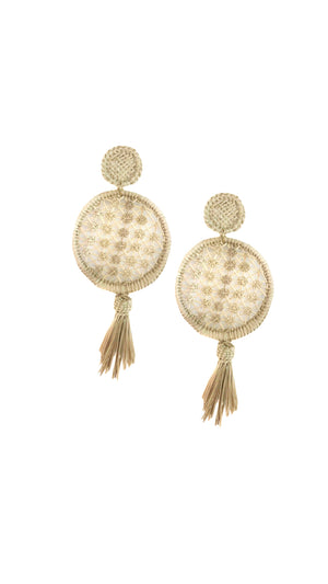 Straw Maxi-Earrings Shapes