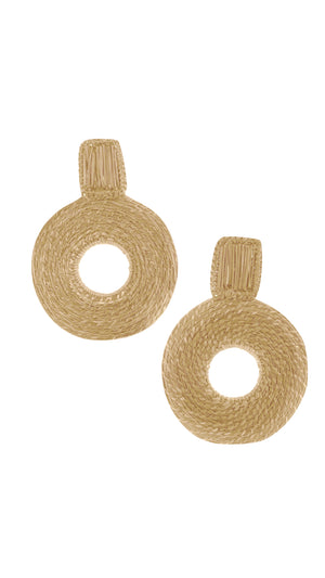 Straw Maxi-Earrings Round