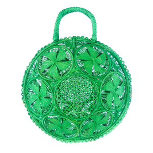 LUXCHILAS Straw Bag - Panera Green