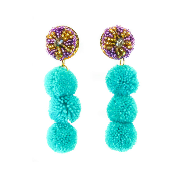 LUXCHILAS - Pom Pom Earrings - Earrings