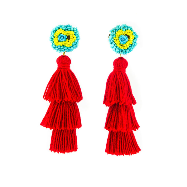 LUXCHILAS - Tassel Earrings - Earrings