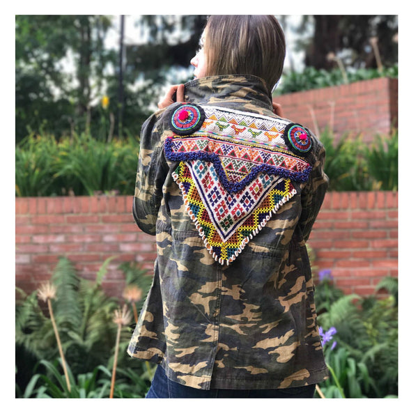 LUXCHILAS - Beaded Tribal Jacket - Jacket