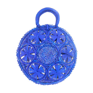 LUXCHILAS Straw Bag - Panera Blue