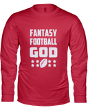 """Fantasy God"" Long Sleeve Shirt - Average Joes Fantasy Football Apparel"
