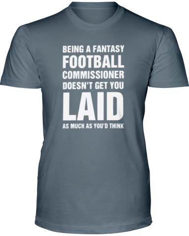 Perks of the Commish T-Shirt - Average Joes Fantasy Football Apparel