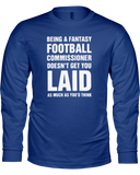 Perks of the Commish Long Sleeve Shirt - Average Joes Fantasy Football Apparel