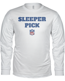 """Sleeper Pick"" Long Sleeve Shirt - Average Joes Fantasy Football Apparel"