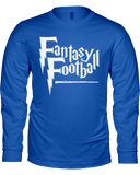 Fantasy Football Wizard Long Sleeve Shirt - Average Joes Fantasy Football Apparel