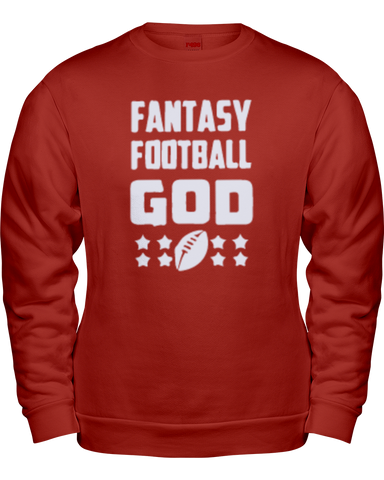 """Fantasy Football God"" Sweatshirt - Average Joes Fantasy Football Apparel"