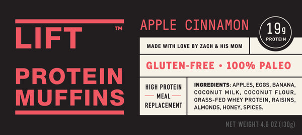 Apple Cinnamon LIFT Protein Muffin
