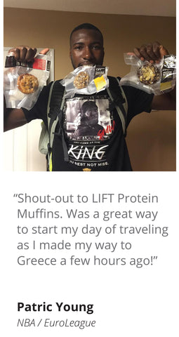 Patric Young, NBA, LIFT Protein Muffins Testimonial