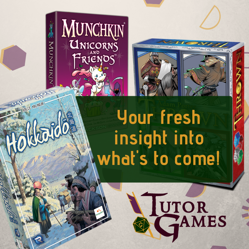 Fresh look at what's to come in board games!