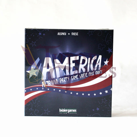 America A Trivia Party Game Where Close Counts Board Game