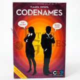 Codenames board game box with white background
