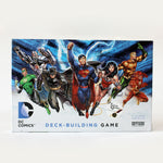 DC deck builder card game box with white background