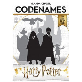 Codenames harry potter board game with white background