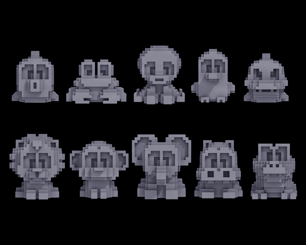 Bit Figs - Mecha Animal Set