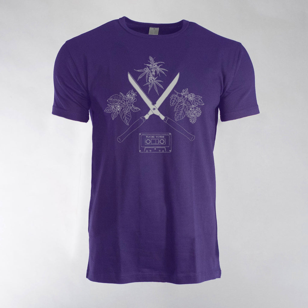 Flying Vipers - Cuts Purple T-Shirt