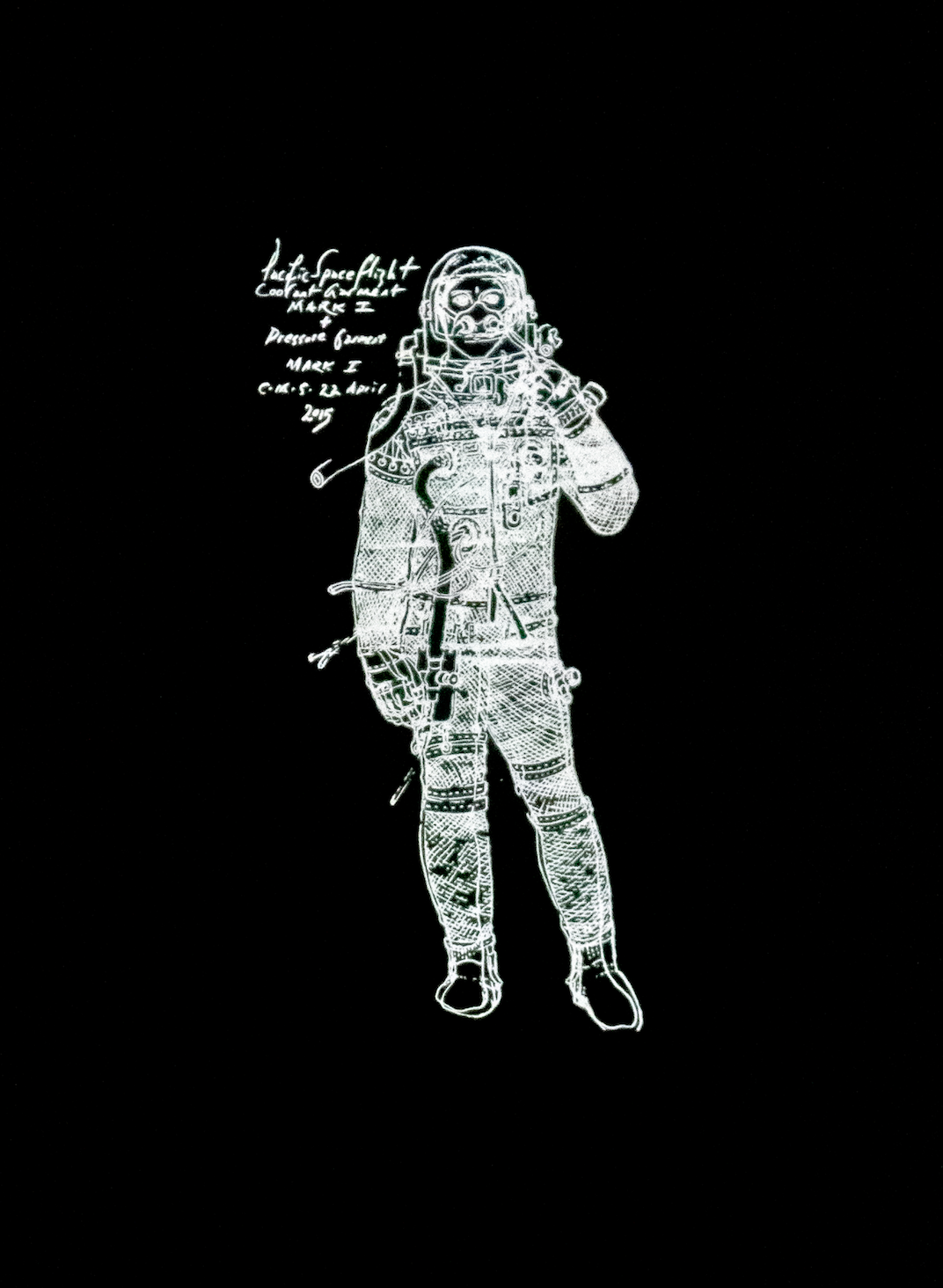 Querencia Studio x Pacific Spaceflight Black Short Sleeve