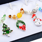 6 Piece Set of Wine Glass Charms - Christmas Special Edition