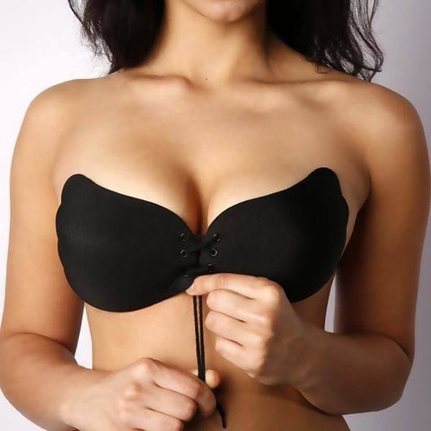 Strapless Drawstrings Push Up Bra