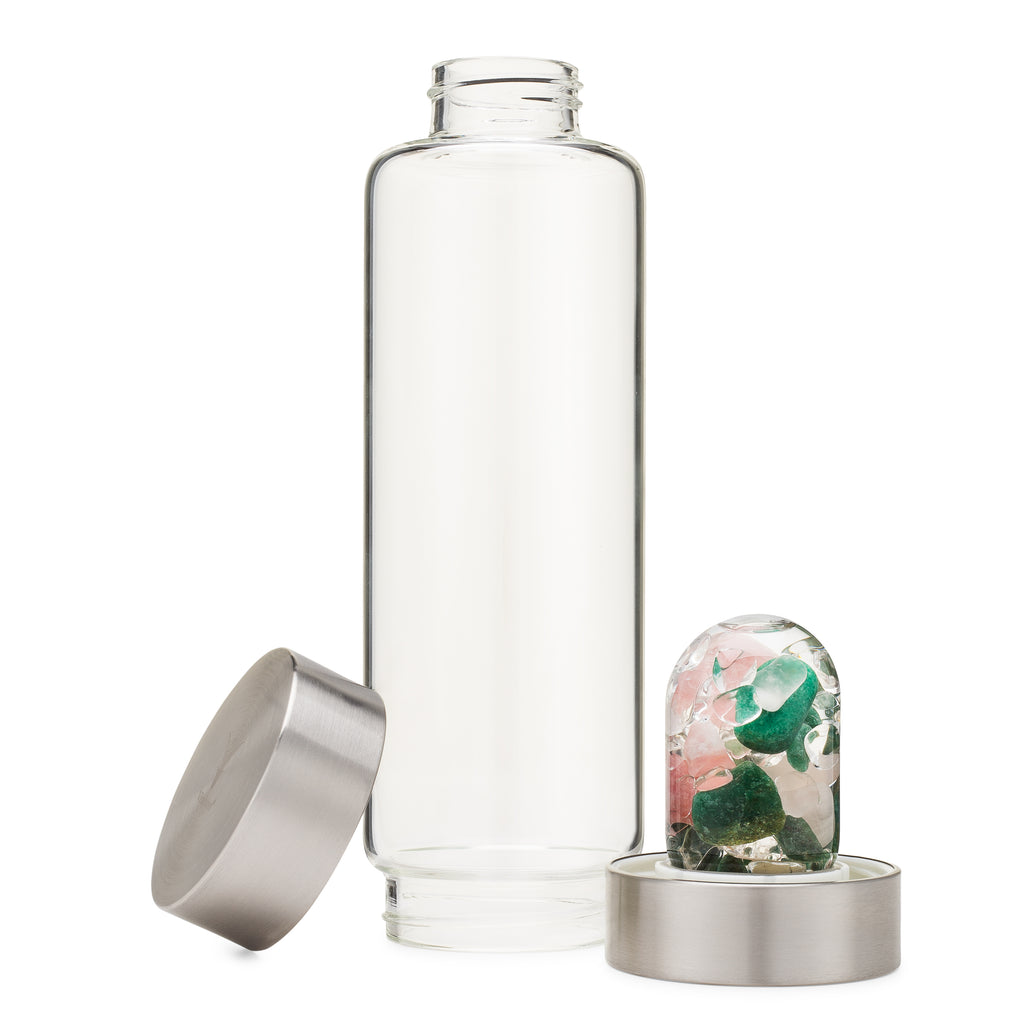 Limited Edition Mindful Health Gives Crystal Water Bottle by VitaJuwel®