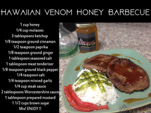 Hawaiian Style Honey infused BBQ Sauce Recipe