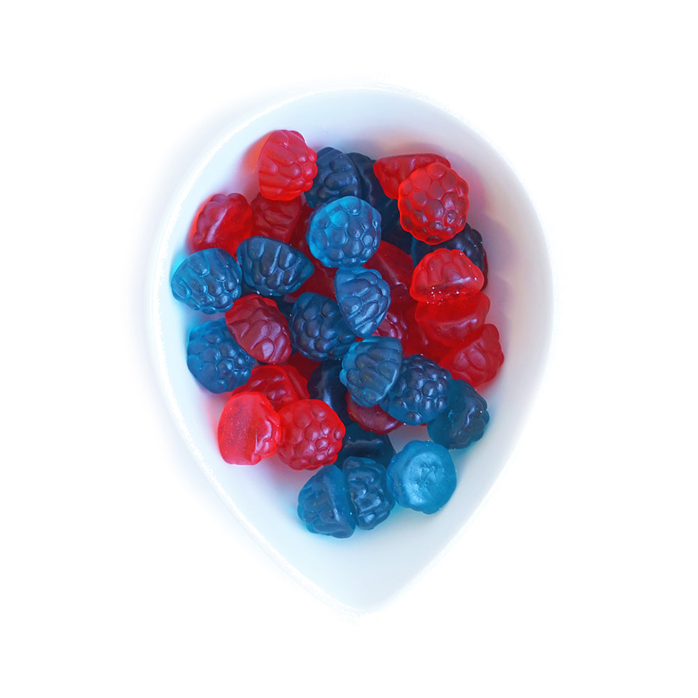 Red and Blue Raspberries