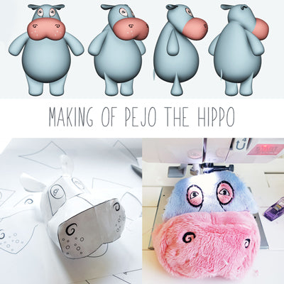 The Making of a Plushie - Pejo, the Hippo, Resident of Science World Vancouver!