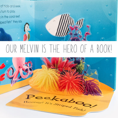 Melvin the fish is the hero of a book!