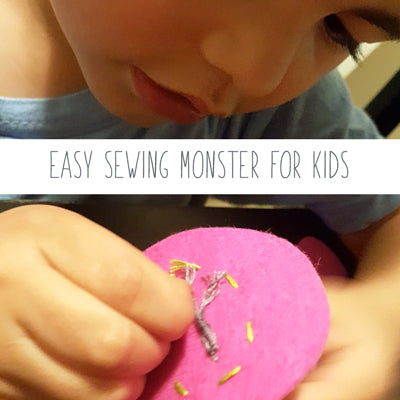Halloween DIY - Easy felt monsters to make with your kids