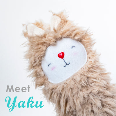 Yaku, our new llama plush toy!