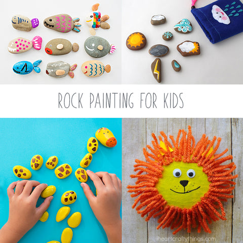 Cover for Rock painting ideas for kids with animal painted on rocks
