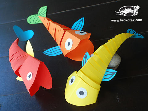 Articulated paper fish