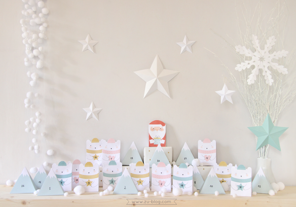 DIY printable advent calendar by ZU