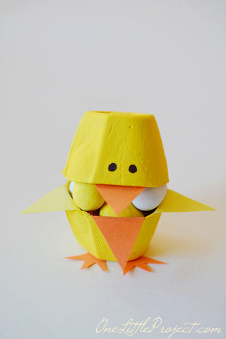 carton egg easter chick