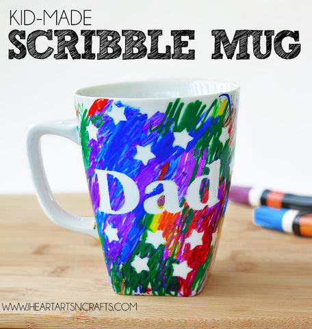Image of a handmade mug for father's day