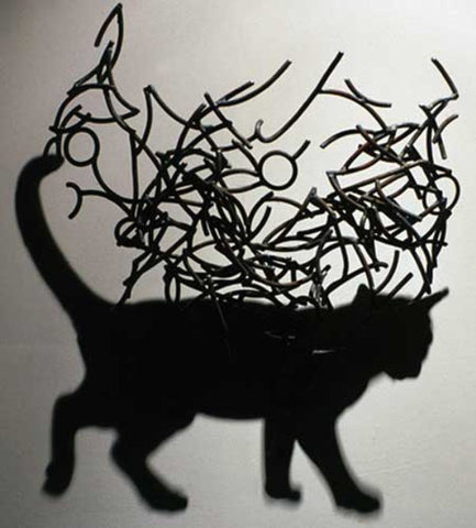 Cat made by Shadows by Larry Kagan