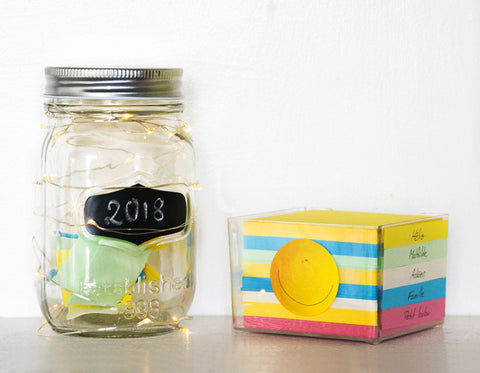 Happy jar and note