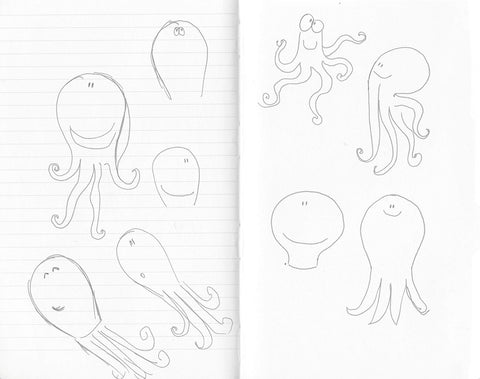 Graphic research for Octave the octopus