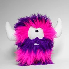 Big stripy pink and purple monster