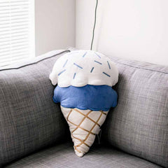 Custom made blue Ice cream pillow