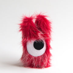Red cyclops plush monster