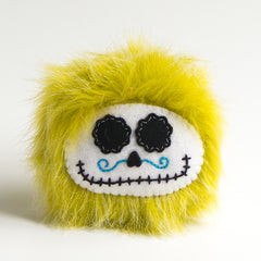 Green day of the dead plush monster
