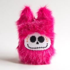 Pink day of the dead plush monster