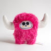 Big pink day of the dead plush monster with hornes