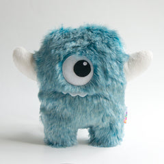 Big blue cyclop stuffed monster with hornes